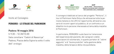 Perkorsi – Le strade del Parkinson, Comunicato stampa di lancio a Padova