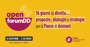 Open Forum Diseguaglianze e Diversità: 16 giorni in diretta anche sul tema Salute e cura