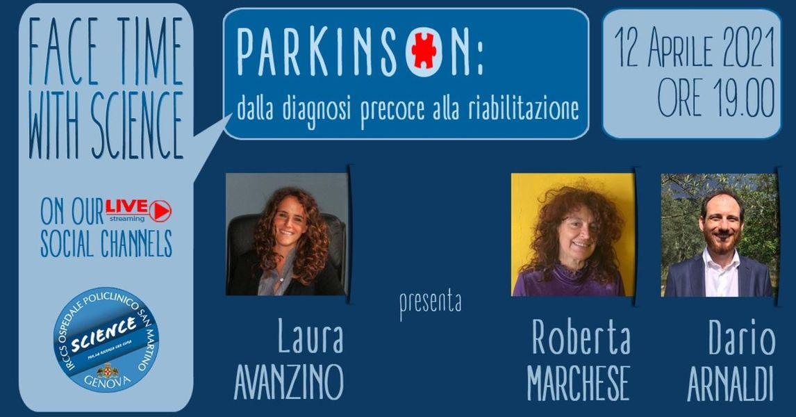 Parkinson: dalla diagnosi precoce alla riabilitazione-Webinar 12 aprile ore 19.00